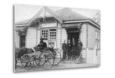 Waipu Post Office and Staff, 1916--Metal Print