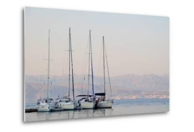 Kassiopi Harbour, Corfu, Greece--Metal Print