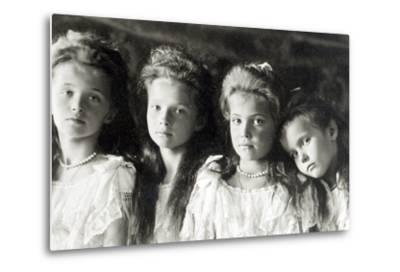 The Daughters of Tzar Nicholas II--Metal Print