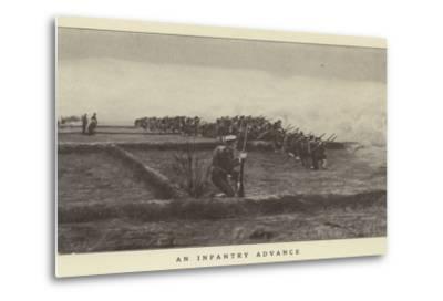 An Infantry Advance--Metal Print