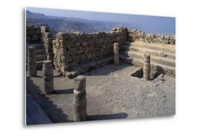 Synagogue, Masada--Metal Print