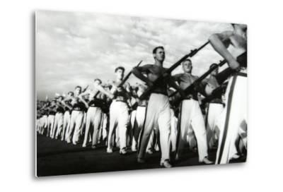 Parade of the Young Communists, Moscow--Metal Print