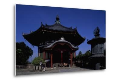 Nanen-Do Hall, from the Kofuku-Ji Complex in Nara--Metal Print