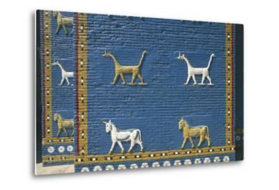 Detail of the Reconstruction of the Ishtar Gate--Metal Print