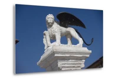 Statue in the Piazza Degli Scacchi, Marostica, Veneto, Italy--Metal Print