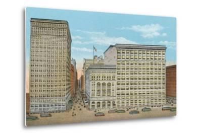 Marshall Field and Company, Retail Stores, Wabash and Washington--Metal Print