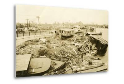 Miami River at Ramp to 5th Street Bridge, after the Hurricane, 1926--Metal Print