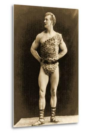 Eugen Sandow, in Classical Ancient Greco-Roman Pose, C.1897--Metal Print