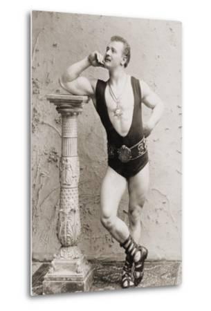 Eugen Sandow, in Classical Ancient Greco-Roman Pose, C.1897--Metal Print