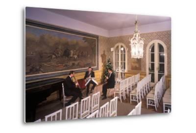 Interior of Villa Bertramka, Prague, Czech Republic--Metal Print