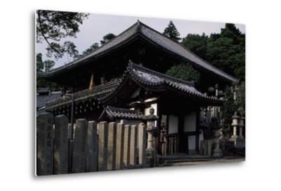 Nigatsu-Do Hall from the Todai-Ji Complex in Nara--Metal Print