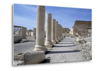 Ruins of Colonnade in Palmyra--Metal Print