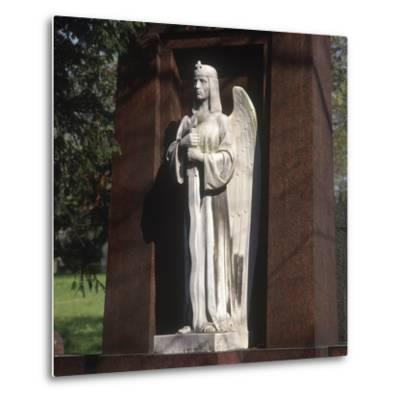 Statue of an Archangel from the Grave of the Graf Family--Metal Print