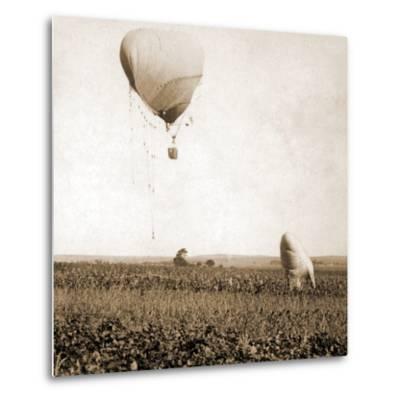 Japanese War Balloons, Port Arthur, Lüshunkou District, China, 1904--Metal Print