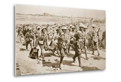 Australian Machine-Gunners Returning from the Trenches, 1916--Metal Print