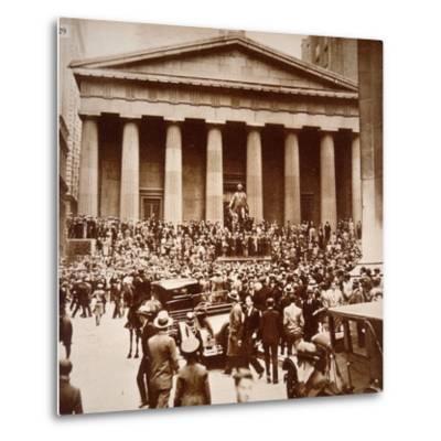 Scene of Panic in Wall Street, New York, 24th October 1929--Metal Print