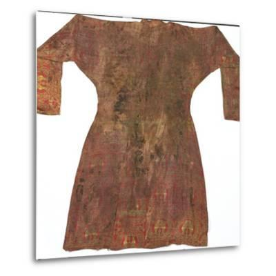 Brightly Coloured Seljuk Lampas Robe, Central Asia, 11th - 12th Century--Metal Print