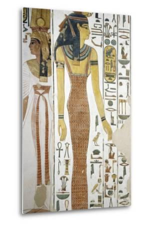 Selqet, Detail from the Frescoes in the Burial Chamber of Nefertari--Metal Print