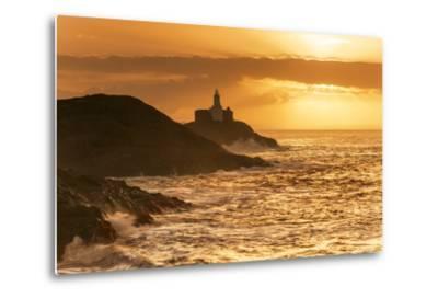 Mumbles Lighthouse, Bracelet Bay, Gower, Swansea, Wales, United Kingdom, Europe-Billy-Metal Print