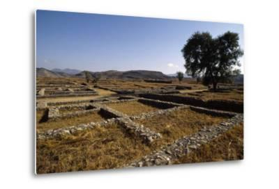 Pakistan, View of Excavations of Ancient Sirkap Archaeological Site of Today's Taxila--Metal Print
