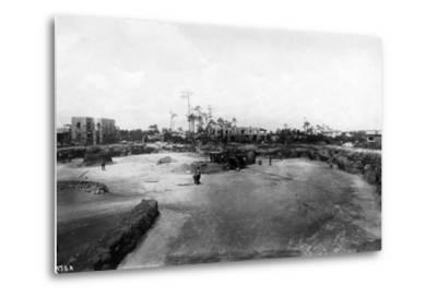 Quarry and Construction at Venetian Pool Site, Coral Gables, Florida, C.1923--Metal Print