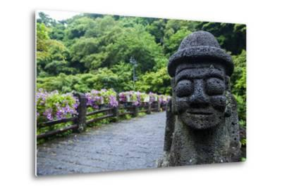 Basalt Statue in Seogwipo, Island of Jejudo, UNESCO World Heritage Site, South Korea, Asia-Michael-Metal Print