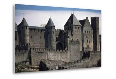 Double Boundary Wall of the Fortified Town, Carcassonne--Metal Print