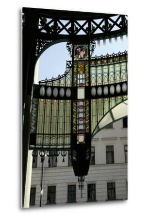 Stained-Glass Decoration of the Municipal House Portal, Prague, Czech Republic--Metal Print