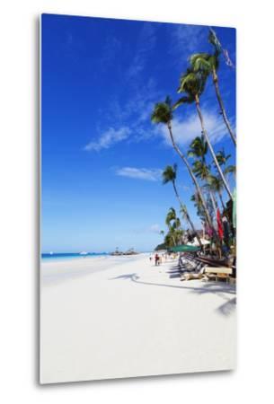 White Beach, Boracay Island, the Visayas, Philippines, Southeast Asia-Christian-Metal Print