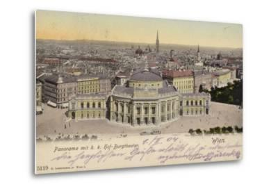 Postcard Depicting a General View of the City of Vienna--Metal Print
