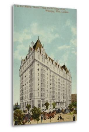 The Fort Garry, Grand Trunk Pacific Railway's New Hotel, Winnipeg, Manitoba, Canada--Metal Print
