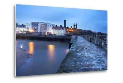 St. Andrews Harbour before Dawn, Fife, Scotland, United Kingdom, Europe-Mark-Metal Print