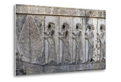 Bas-Relief Depicting Susian Guards, Apadana, Persepolis--Metal Print