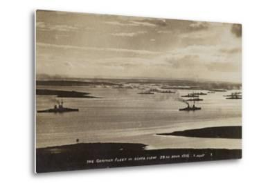 German High Seas Fleet Interned at Scapa Flow, Orkney, 28 November 1918--Metal Print