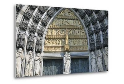 Cologne Cathedral, Main Portal of the West Facade, Cologne, Germany--Metal Print