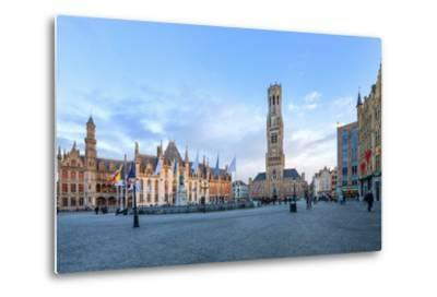 Market Square and the Belfry-G&M-Metal Print