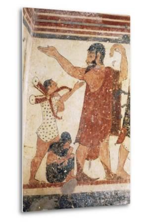 Priest Taking Leave, Fresco, Tomb of Augurs, Monterozzi Necropolis--Metal Print