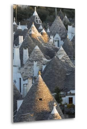 Rooftops of Traditional Trullos (Trulli) in Alberobello-Martin-Metal Print