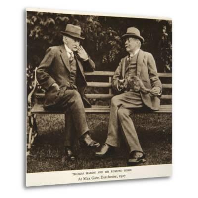 Thomas Hardy and Sir Edmund Gosse at Max Gate, Dorchester, 1927--Metal Print