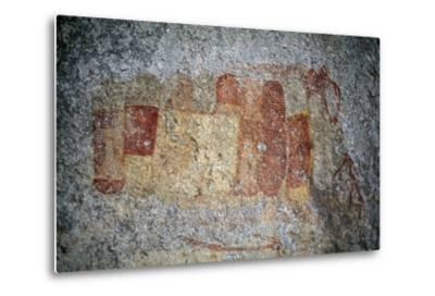 Bushman or San Cave Paintings, Bambata Cave, Matobo Hills--Metal Print
