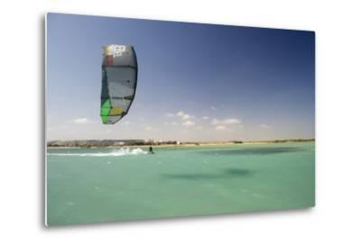Kite Surfing on Red Sea Coast of Egypt, North Africa, Africa-Louise-Metal Print