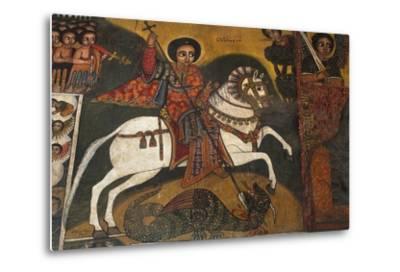 St George and Dragon--Metal Print