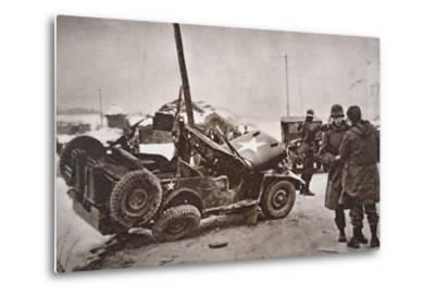 Wrecked Jeep in Which U.S. General Walker Died in a Road Collision, 23th December 1950--Metal Print
