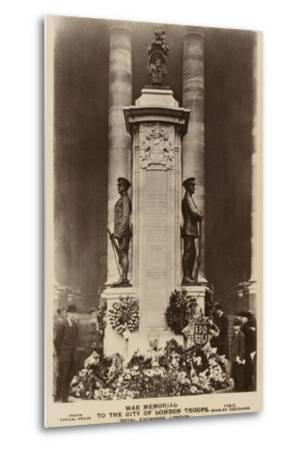 War Memorial to the City of London Troops, Royal Exchange, London--Metal Print