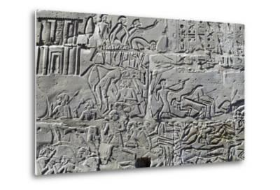 Detail from Relief of Battle of Kadesh--Metal Print