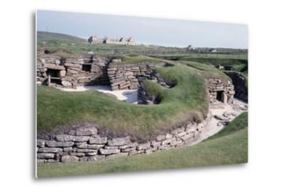 Ruins of a Prehistoric Neolithic Village of Skara Brae--Metal Print
