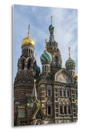 Church of the Saviour on Spilled Blood, UNESCO World Heritage Site, St. Petersburg, Russia, Europe-Michael Runkel-Metal Print