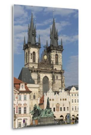 Old Town Square (Staromestske Namesti) and Tyn Cathedral (Church of Our Lady before Tyn)-Angelo-Metal Print