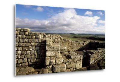Ruins at the Southern Entrance, Housesteads Roman Fort, Hadrian's Wall--Metal Print