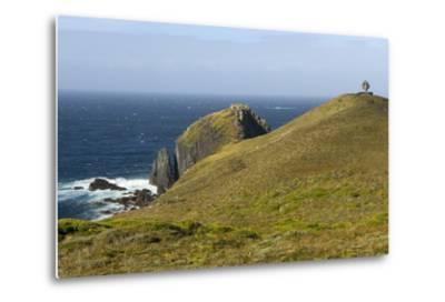 The Albatross Monument at Cape Horn, Isla De Cabo De Hornos, Tierra Del Fuego, Chile, South America-Tony Waltham-Metal Print